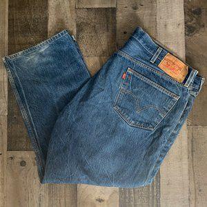 Levis 501 Mens Blue Jeans 48x30 Original Fit